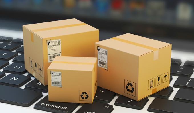 Pequeños paquetes que se compran por Internet