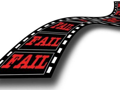cinta de film con la palabra Fail