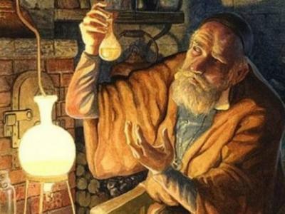 Cuadro de un alquimista